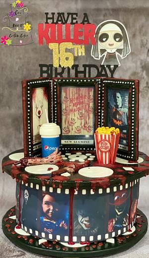 Horror Movie Sweet 16 Birthday Cake - Cake by eiciedoesitcakes