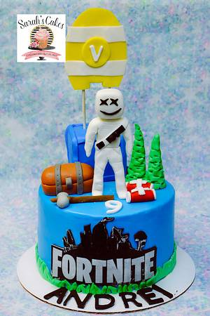 Fortnite Cake - Cake by Sarah's Cakes