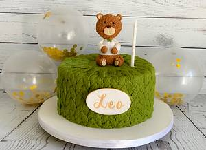 Knitted Teddy Bear - Cake by Sweet Cakes