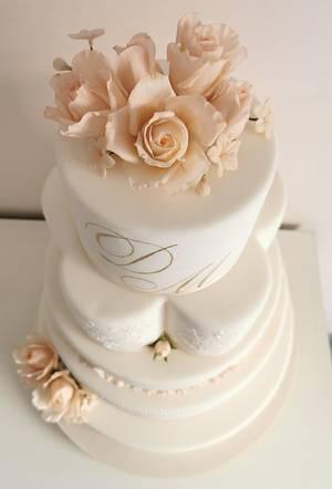 Cake Wedding Flowers  - Cake by Tania Chiaramonte