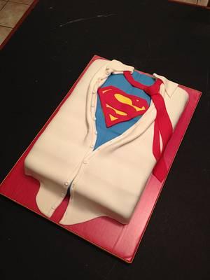 Superman Cake - Cake by Woodcakes