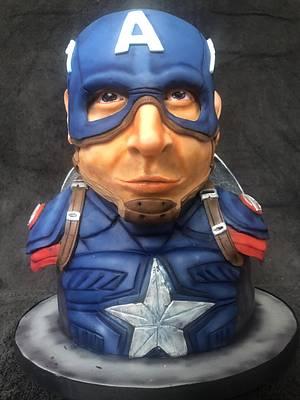 Captain America marvel  - Cake by Katy133
