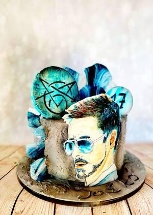 Tony Stark - Cake by alenascakes