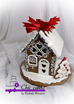 Gingerbread houses- large - Cake by Radmila