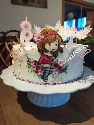 Birthday Cake For My Little Girl - Cake by LaniesCakery