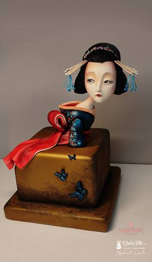 """Japan - an International Cake Collaboration""  Madame Butterfly - Cake by AppoBli Belinda Lucidi"