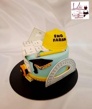"""Architecture Engineer Graduation cake"" - Cake by Noha Sami"