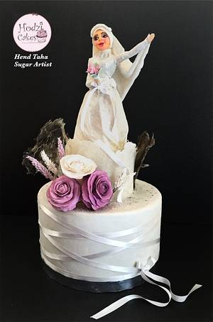 Couture Cakers International Collaboration 2020 Edition- Islamic Bride Cake - Cake by Hend Taha-HODZI CAKES