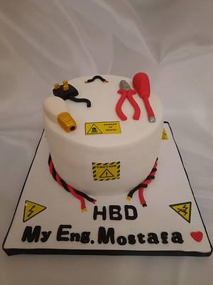 """Electrical Engineering cake"" - Cake by Noha Sami"