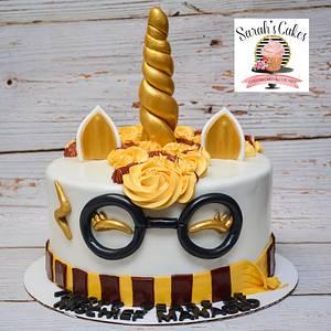 Harry potter Unicorn cake - Cake by Sarah's Cakes