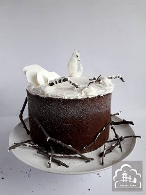 Arctic Fox - Cake by PUDING FARM