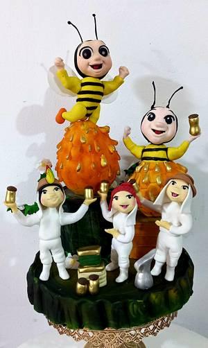 Diseño COUNTRYSIDE GLOBAL COLLABORATION   - Cake by MILUSKA VILLANUEVA CAVERO