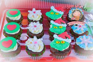 GRINCH CUPCAKES - Cake by Sarah's Cakes