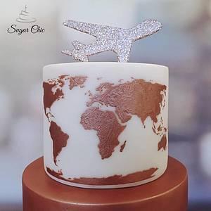 🌎 World Traveller Birthday Cake 🌎 - Cake by Sugar Chic
