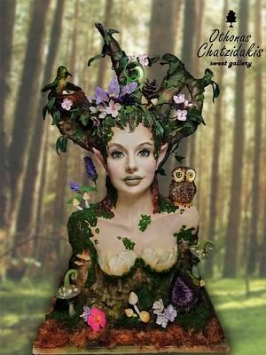 """""""Mother nature"""" 93 cm bust cake  - Cake by Othonas Chatzidakis"""