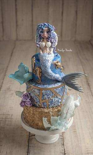 Sexy Mermaid  - Cake by Marilyn Paredes