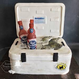 Fisherman's cooler  - Cake by Sweet Traditions