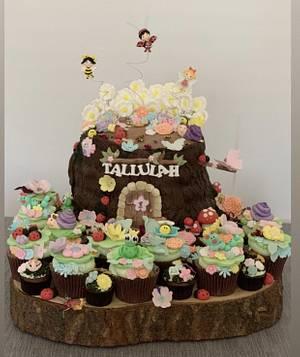 1st Birthday Flutterbug Forest Cake - Cake by Sugar by Rachel