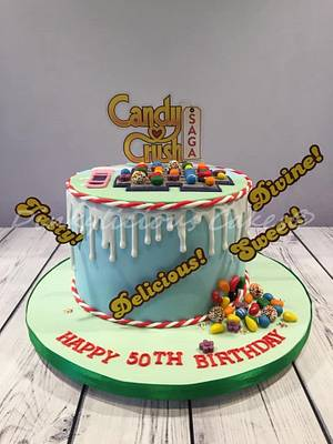 Candy Crush Cake - Cake by Dinkylicious Cakes