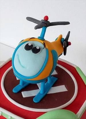 Helicopter cake topper - Cake by Clara