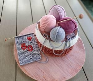 Kinitting basket cake - Cake by Cukniságok