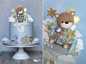 Teddy bear - Cake by Lorna
