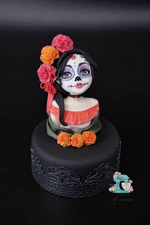 """Dia de Muertos"" Cake topper - sugarpaste  - Cake by Arianna"