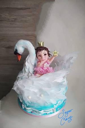Swan and little princess - Cake by Tanya Shengarova