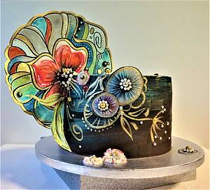 abstract flowers - Cake by Torty Zeiko