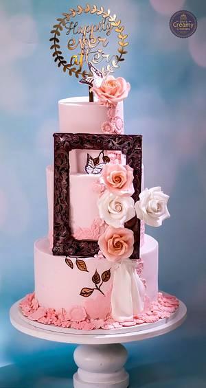 Pastel wedding cake - Cake by Urvi Zaveri