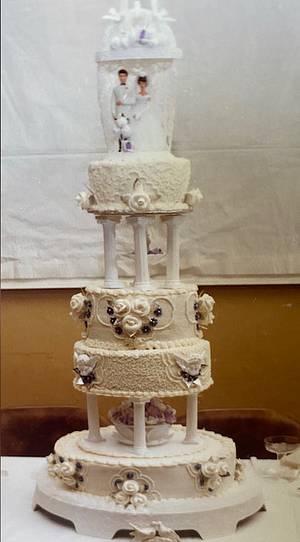 All White Wedding Cake - Cake by Julia