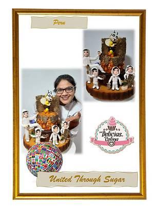 Colaboración UNITED TROUGTH SUGAR   - Cake by MILUSKA VILLANUEVA CAVERO