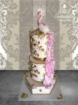 Peacock wedding cake - Cake by Othonas Chatzidakis