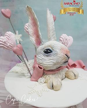 Chocolat rabbit in highhat - Cake by Claudia Kapers Capri Cakes