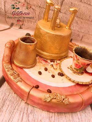 Coffee set cake - Cake by Wafaa mahmoud