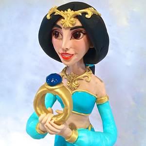 Jasmine with a cushion cake - Cake by Ritzy