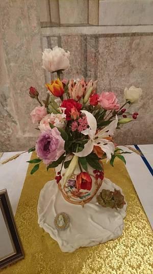 Baroque bouquet  - Cake by Szandra