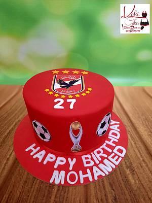 """Ahli club fans cake"" - Cake by Noha Sami"