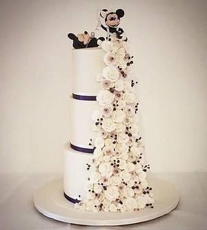 Mickey & Minnie wedding cake  - Cake by Maria-Louise Cakes