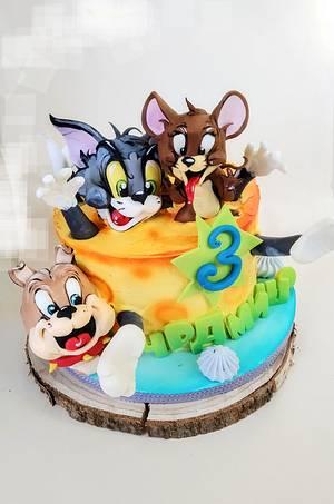 Tom and Jerry - Cake by Tanya Shengarova