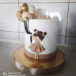 Girl with ballons - Cake by Tortalie