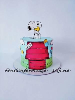 Snoopy - Cake by Fondantfantasy
