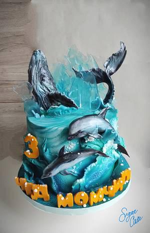 Blue sea - Cake by Tanya Shengarova