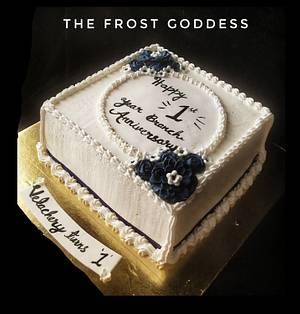 Classic anniversary cake  - Cake by thefrostgoddess