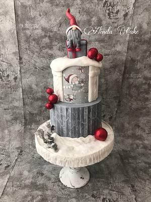 Winter cake - Cake by Alinda Cake