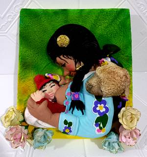 COLABORACION  PARA TRIBAL CULTURE AROUND THE WORLD THE CAKE INTERNATIONAL COLLABORATION  - Cake by MILUSKA VILLANUEVA CAVERO