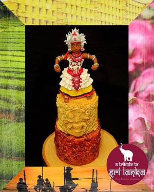 A Tribute to Sri Lanka - Cake by Nilekha's Cakes take a bite