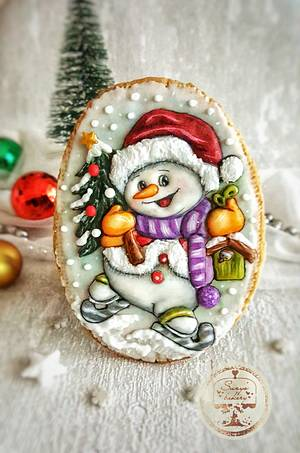 Snowman cookie - Cake by Suzi Suzka