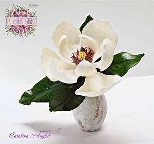 The Edible Garden - Magnolia Grandiflora ❤️ - Cake by Catalina Anghel azúcar'arte