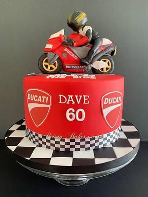 Ducati bike cake - Cake by Penny Sue